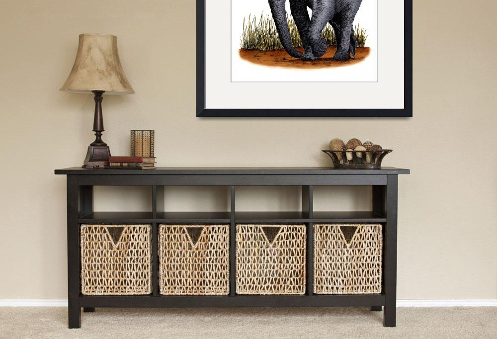 """""""African Elephant&quot  by inkart"""