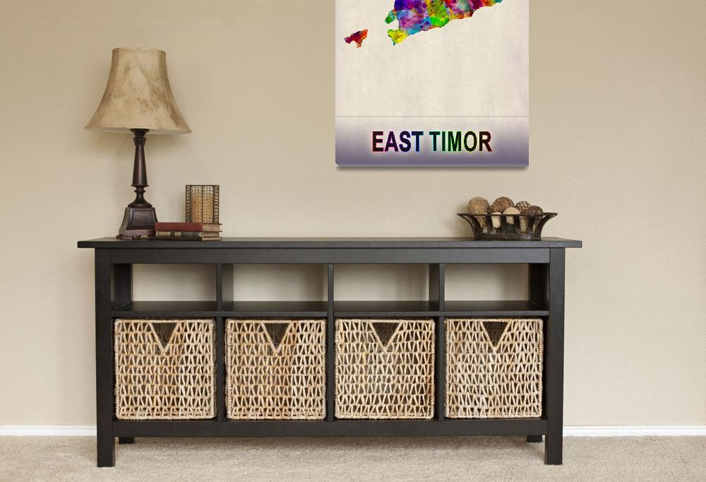 """""""East Timor Map""""  by Towseef"""
