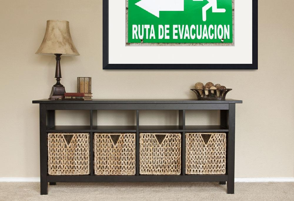 """""""Evacuation Route Sign&quot  (2014) by rhamm"""