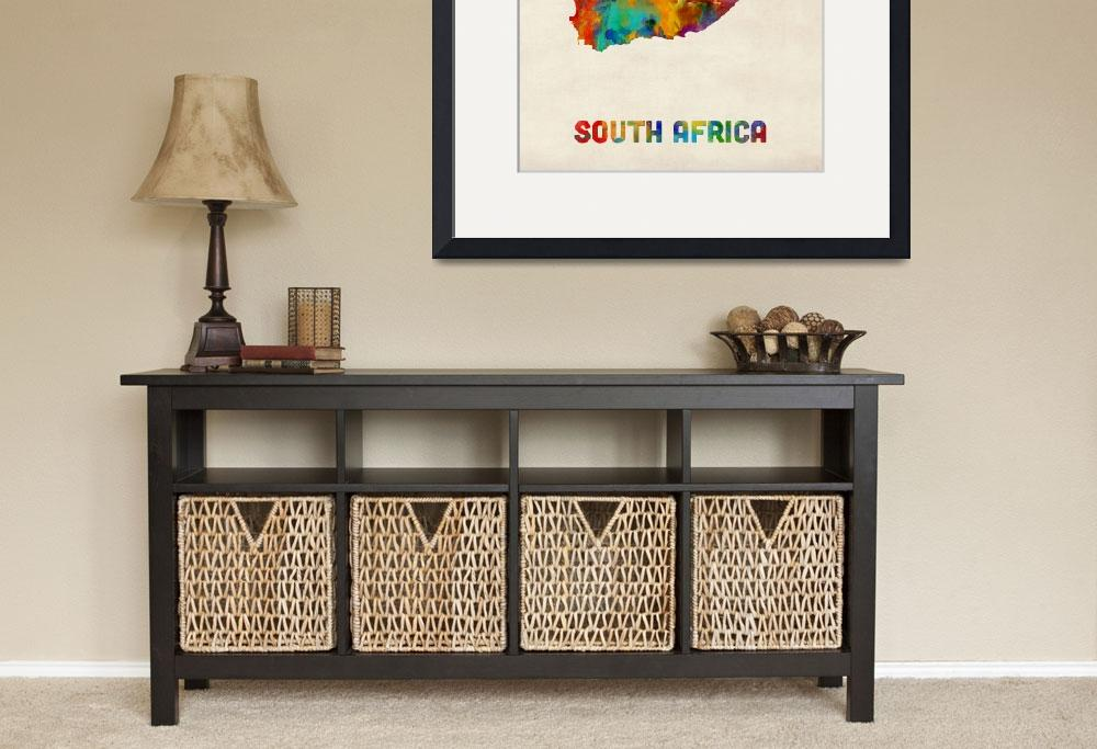 """""""South Africa Watercolor Map&quot  (2016) by ModernArtPrints"""