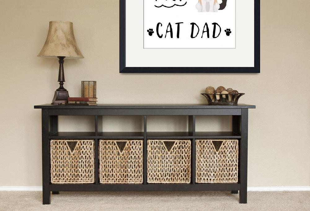 """""""Worlds_Best_Cat_Dad_Black_and_White""""  by miscellaneastudios"""