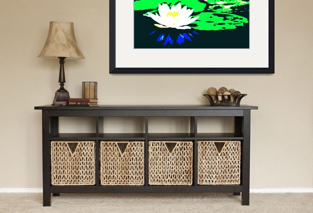 """""""Lotus Flower with Lily Pads II&quot  (2014) by TheNorthernTerritory"""