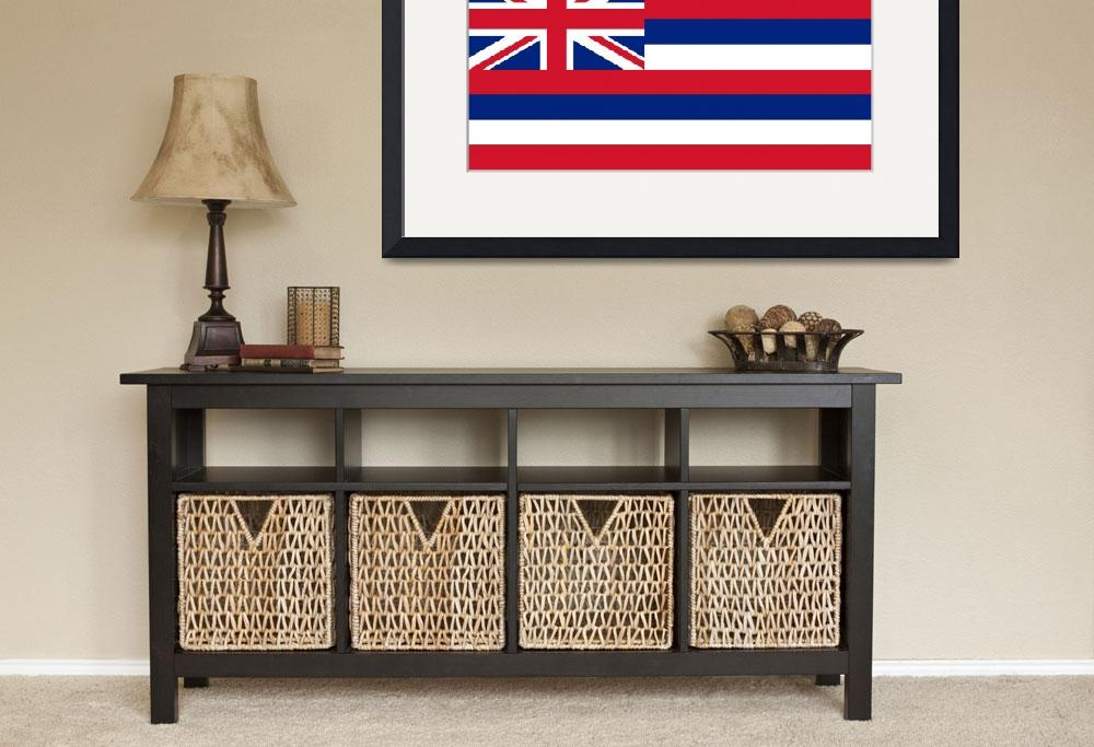 """""""State Flag of Hawaii Authentic 1-2 version&quot  (2013) by BruceStanfieldArtist"""