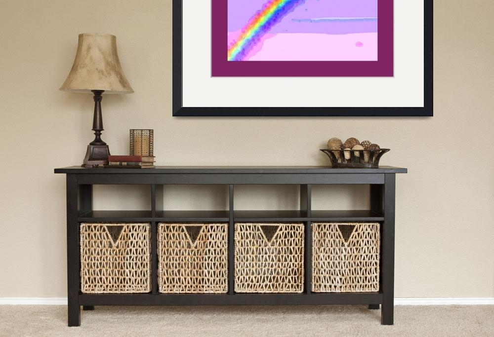 """""""Rainbow with large border&quot  (2013) by TheNorthernTerritory"""
