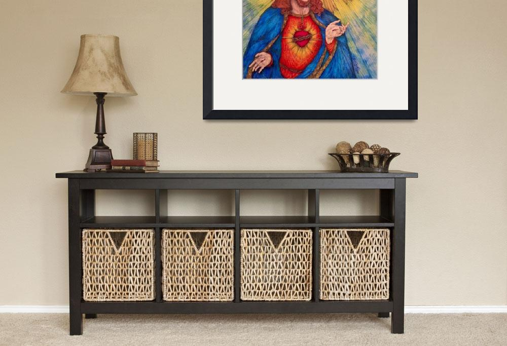 """""""Sacred Heart Of Jesus Christ&quot  (2015) by KentChua"""