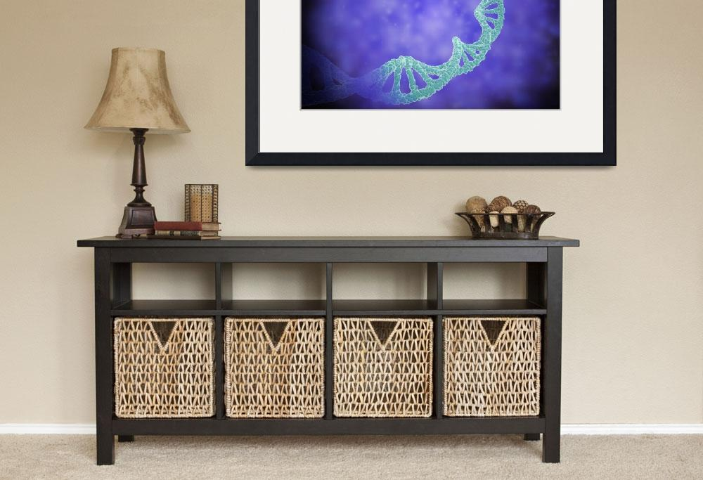 """""""Stylized view of strands of human DNA&quot  by stocktrekimages"""