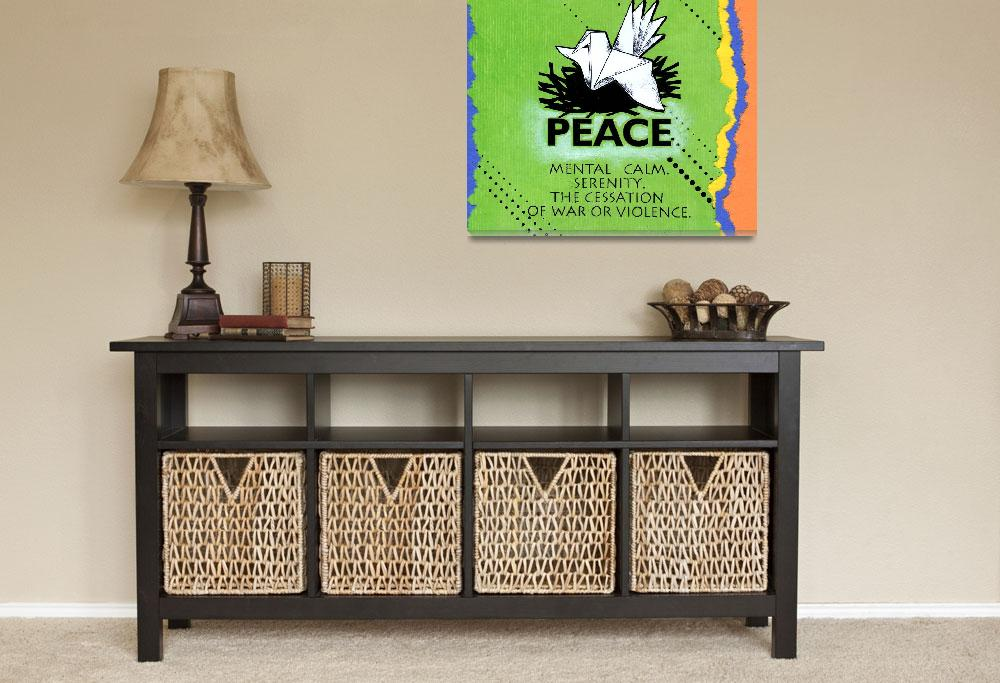 """""""peace poster""""  (2012) by kogi"""