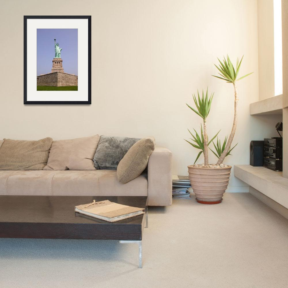 """""""Statue of Liberty and Pedestal&quot  (2003) by fineartphoto"""