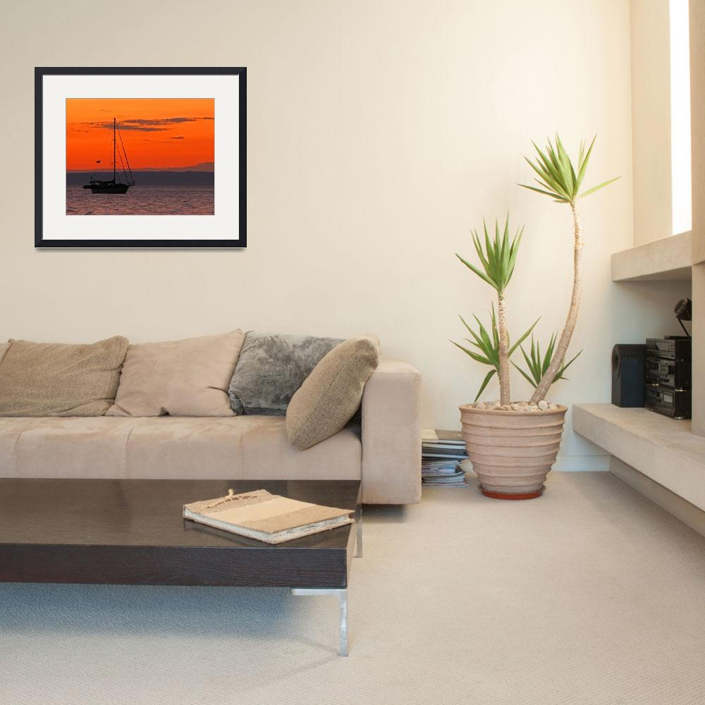 """""""Sailboat at Sunset&quot  (2012) by almarphotography"""