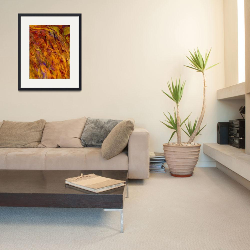 """""""Warm Abstract Art&quot  by Groecar"""