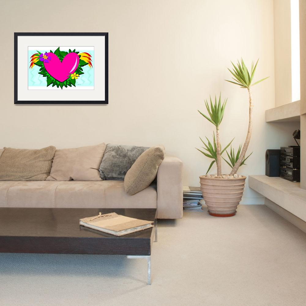 """Loving Heart with Plants&quot  (2012) by theblueplanet"