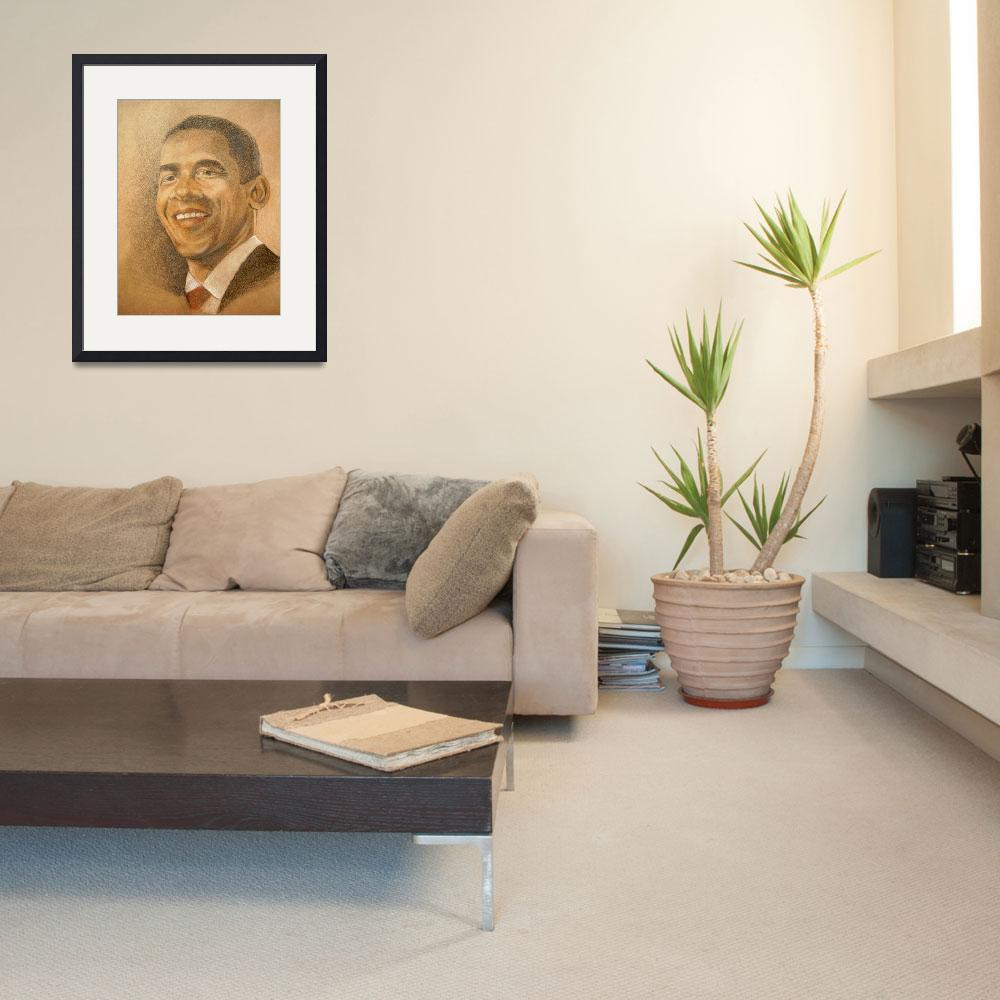 """""""Barack Obama, Hope of the Nation&quot  (2009) by WildArt"""