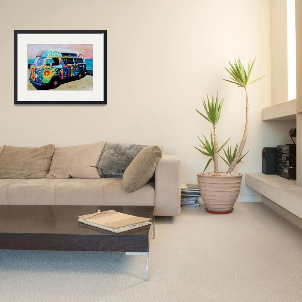 """""""Surf Bus Series: Here Comes the Sun Surf Bus&quot  (2012) by arthop77"""