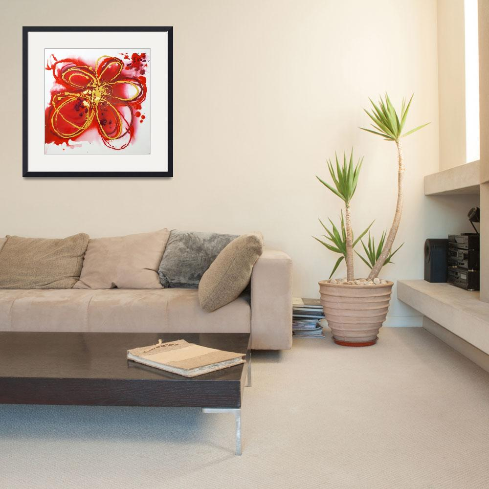 """""""Red abstract&quot  by Aneri"""