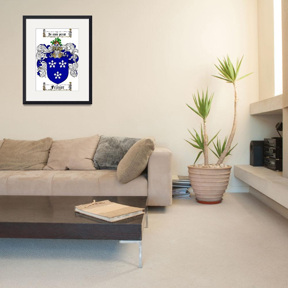 """""""FRAZIER FAMILY CREST - COAT OF ARMS&quot  by coatofarms"""