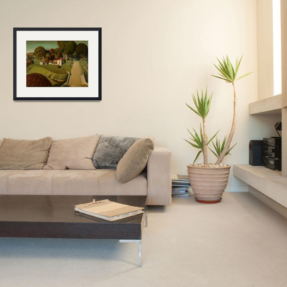 """Grant Wood Art Framed Print&quot  by buddakats1"