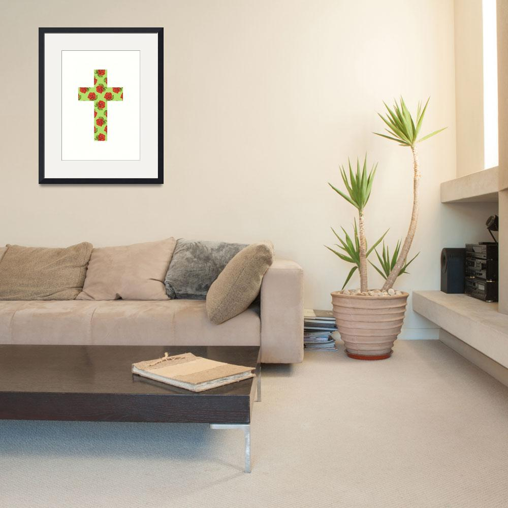 """""""FLORAL CROSS&quot  (2013) by marymase"""