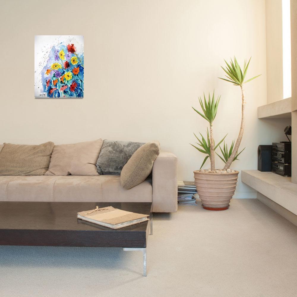 """flower yupo painting&quot  (2008) by derekmccrea"