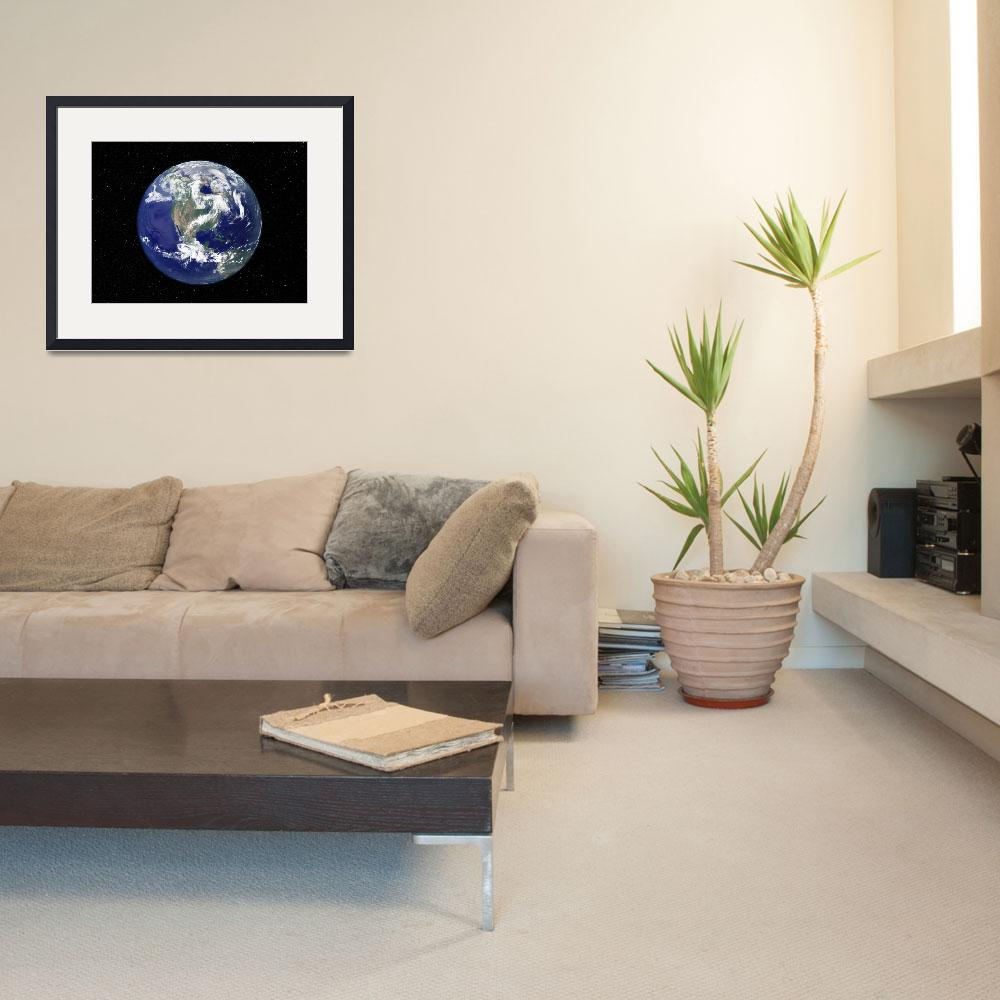 """""""Full Earth centered on North America.&quot  by stocktrekimages"""