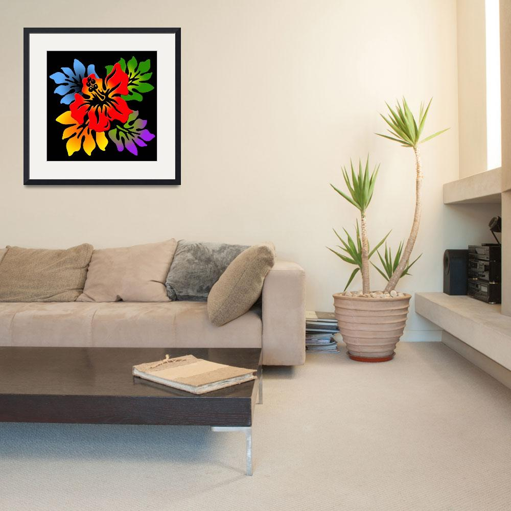 """""""Colorful Hibiscus&quot  (2010) by isa"""