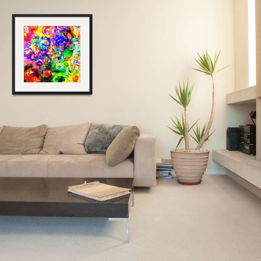"""""""Psychedelic Abstract&quot  by Prawny"""