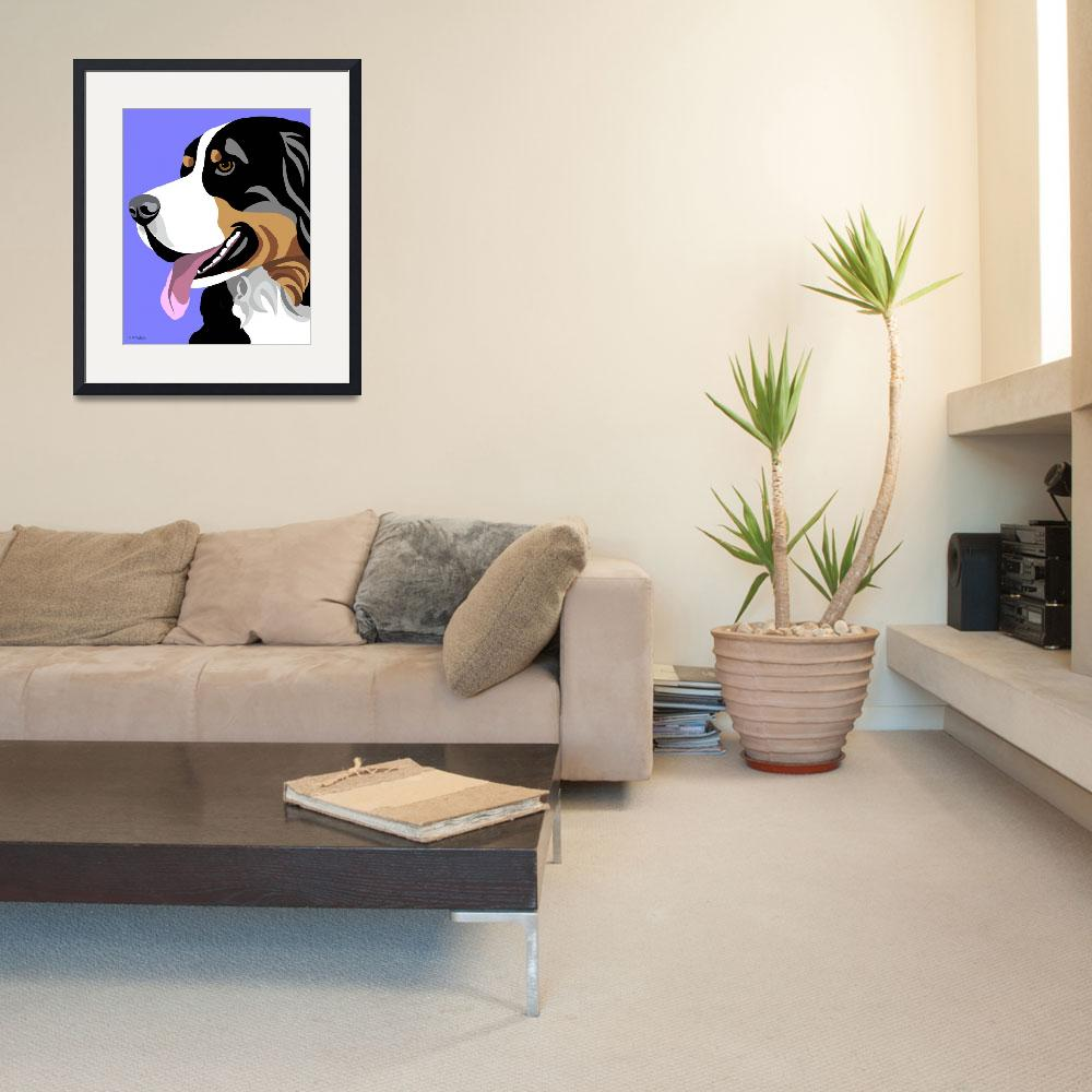 """""""Bernese Mountain Dog&quot  (2010) by waterart"""