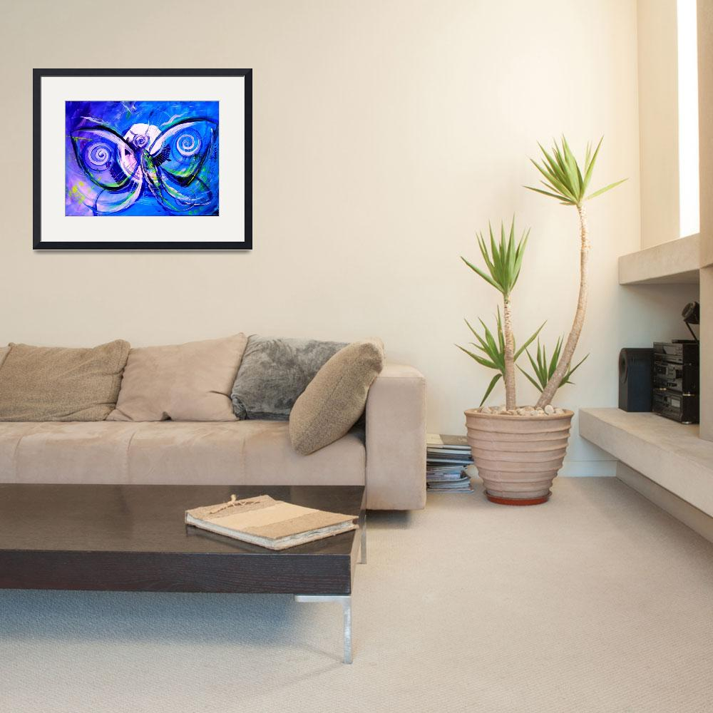 """""""Butterfly Blue Violet&quot  (2015) by scarpace"""