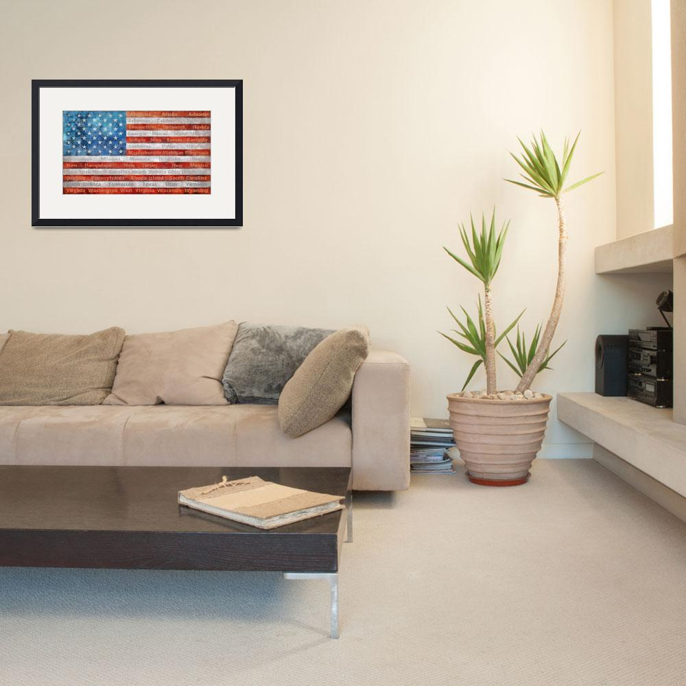 """""""Stars and Stripes with States&quot  (2014) by Michelle1991"""