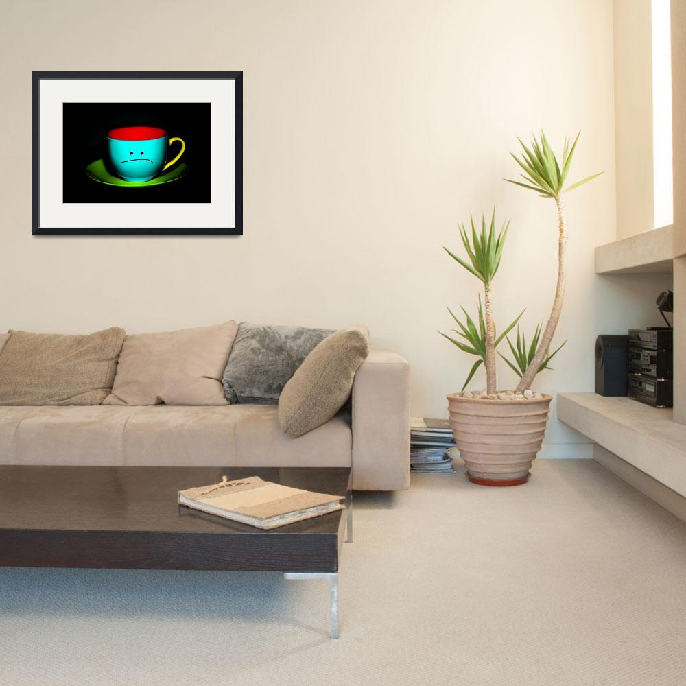 """""""Funny Wall Art - Peeved Colourful Teacup&quot  by NatalieKinnear"""