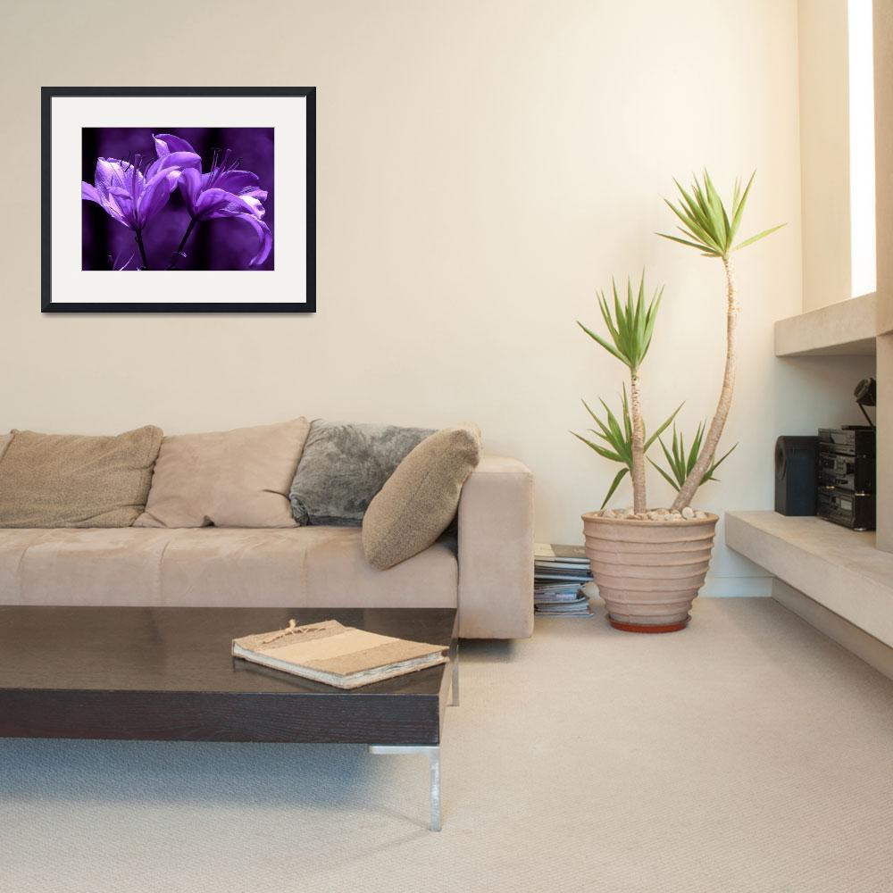 """""""twin lilies purples&quot  by lizmix"""