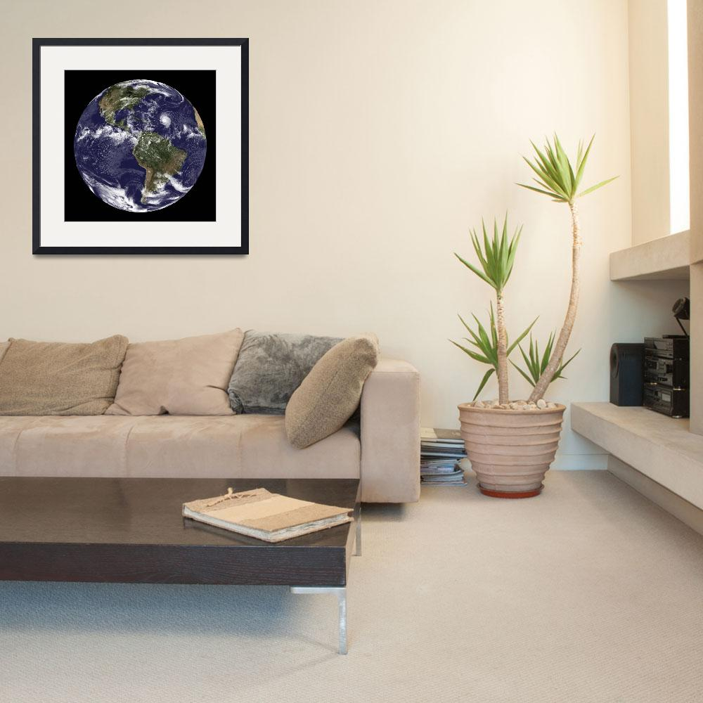 """""""Full Earth showing North America and South America&quot  by stocktrekimages"""