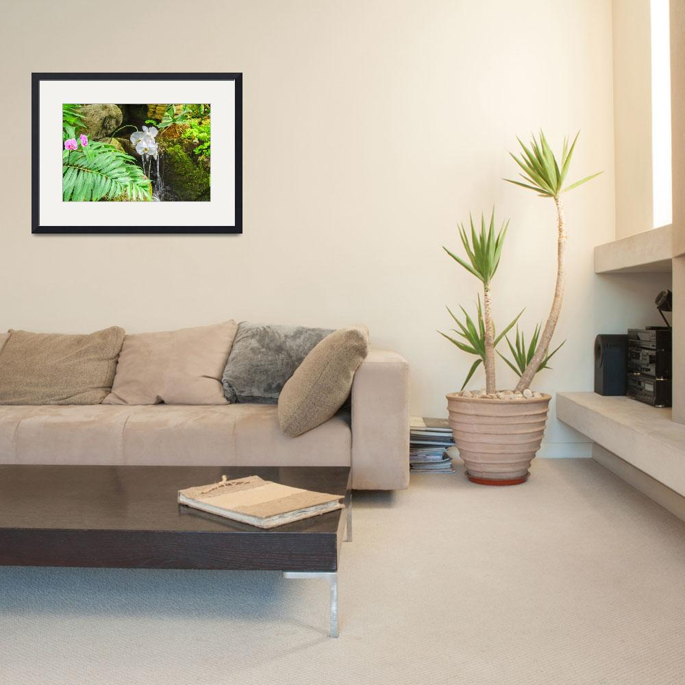 """""""Orchid Scene&quot  (2014) by robnelmsphotography"""