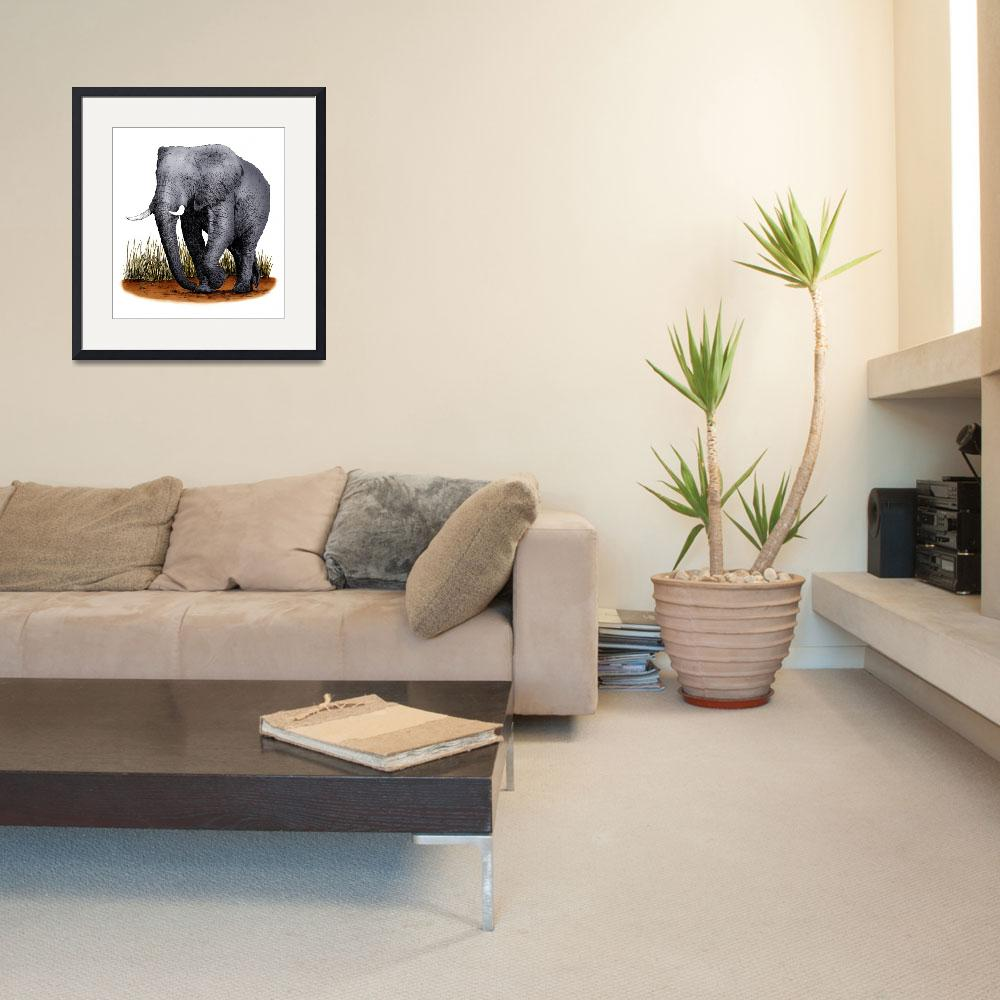 """African Elephant"" by inkart"