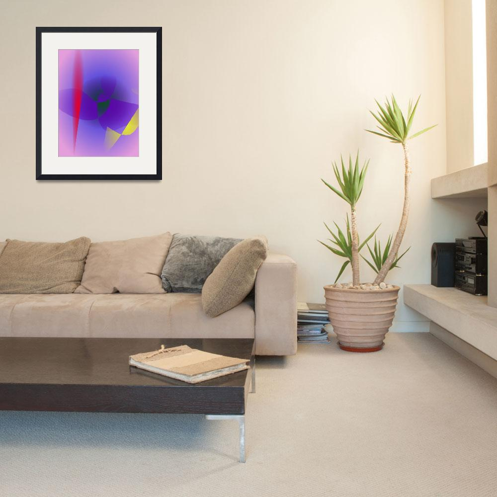 """""""Decisive Woman Lavender Abstract&quot  (2014) by masabo"""