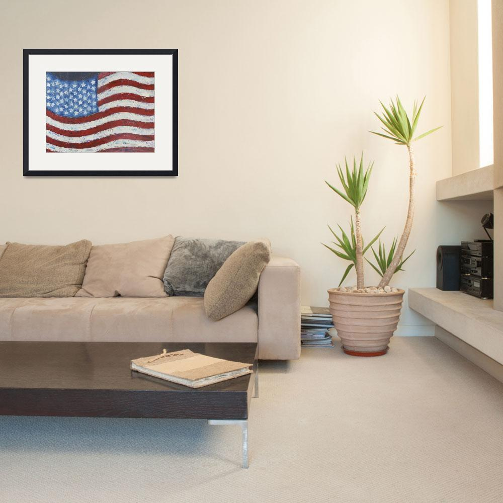 """""""Abstract American Flag""""  by waynecantrell"""