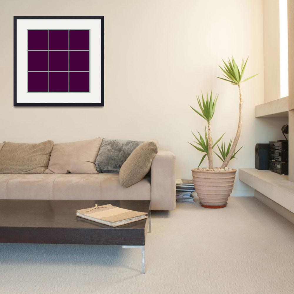 """Violet Window 191 Canvas Contemporary Modern&quot  (2010) by Ricardos"