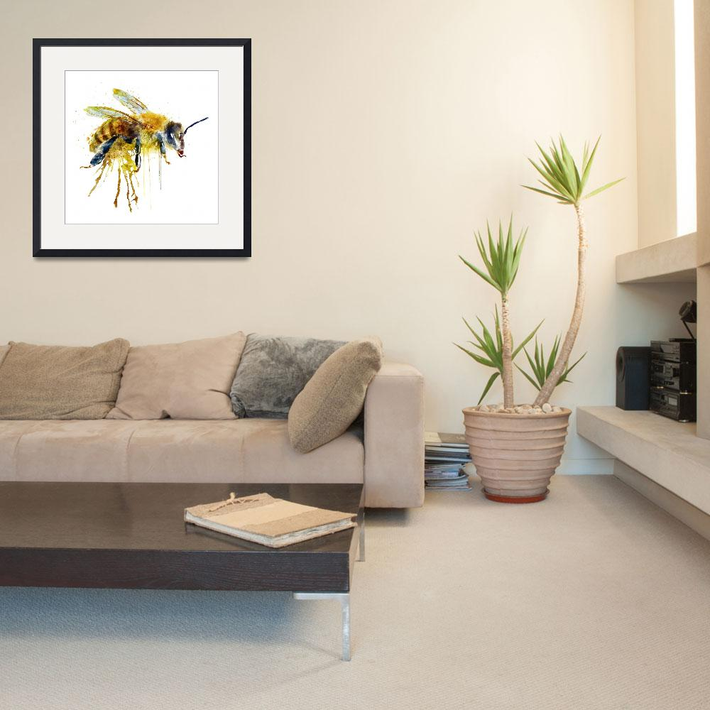 """""""Watercolor Bee&quot  (2016) by MarianVoicu"""