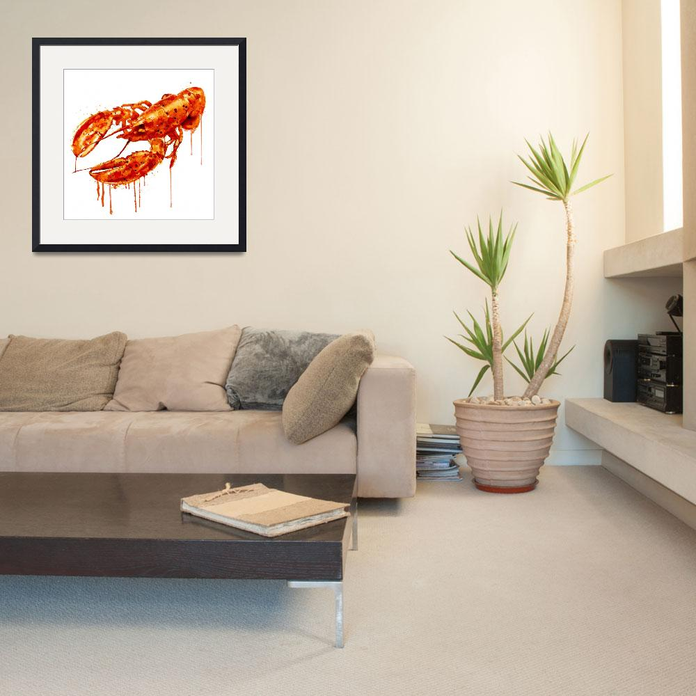 """""""Crayfish Watercolor Painting&quot  (2015) by MarianVoicu"""