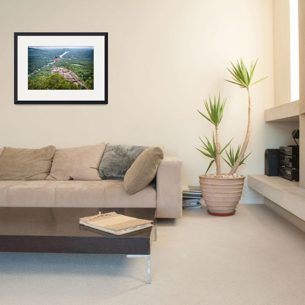 """""""overlooking chimney rock and lake lure&quot  by digidreamgrafix"""