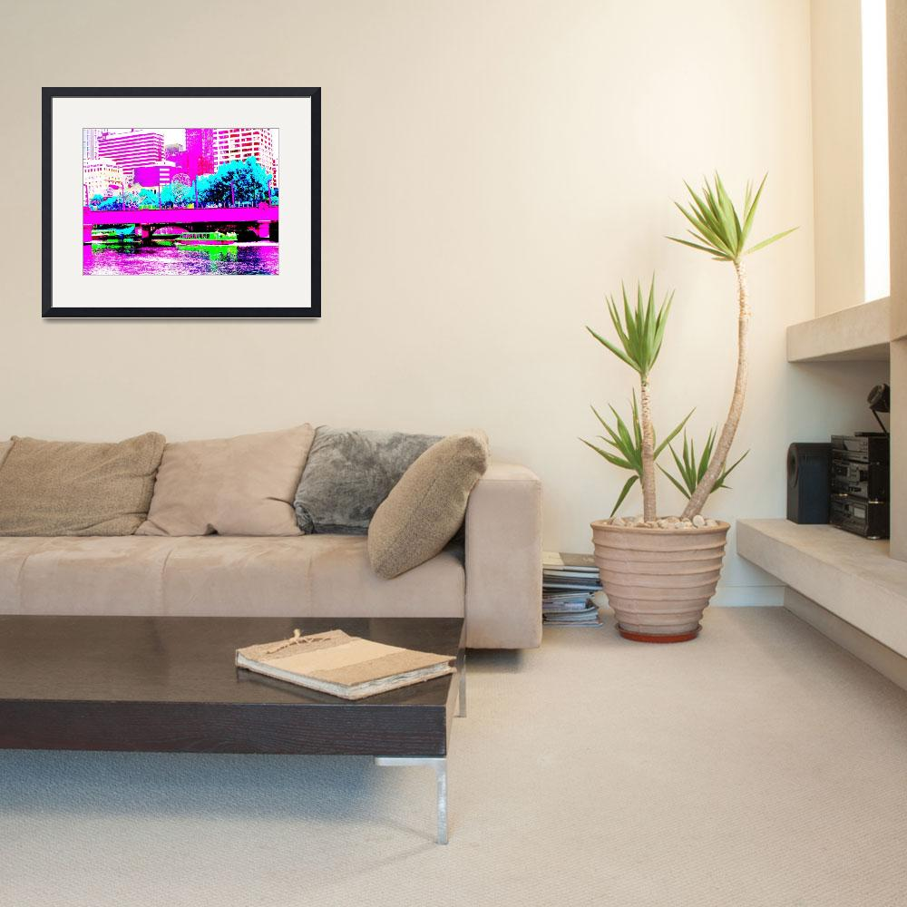"""""""Abstracted Melbourne Cityscape&quot  (2009) by davidflurkey"""