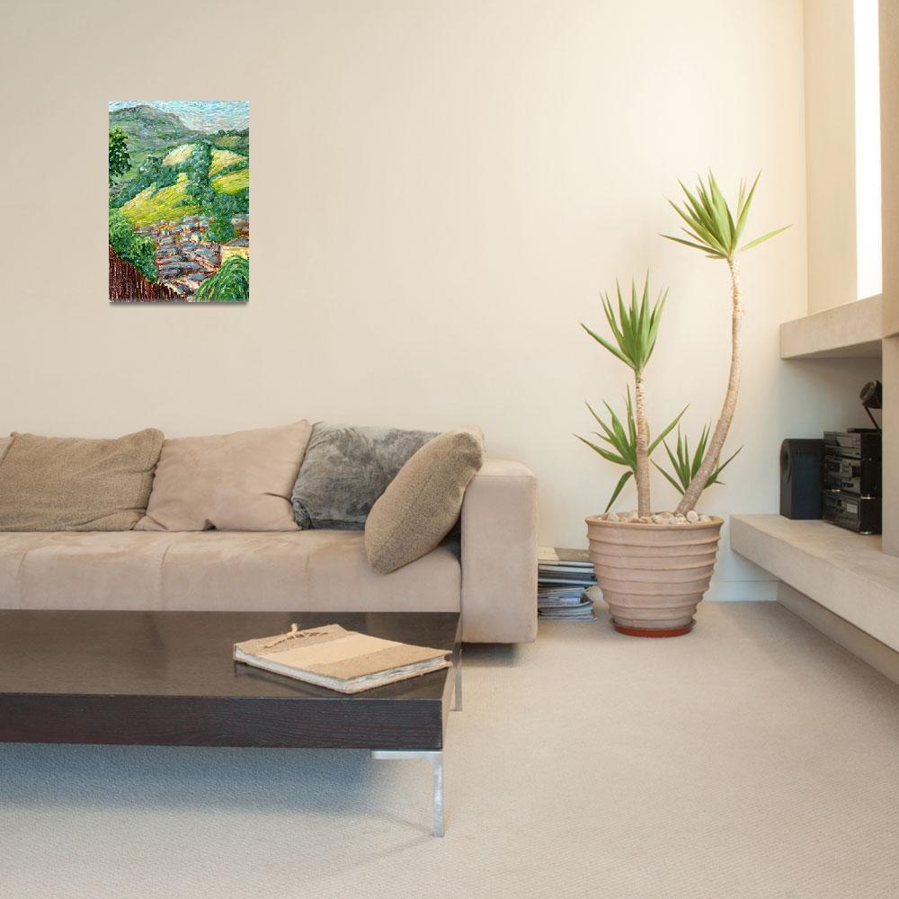 """Newtown Hills: Plein Air Oil Pastel Painting""  (2008) by Linandara"