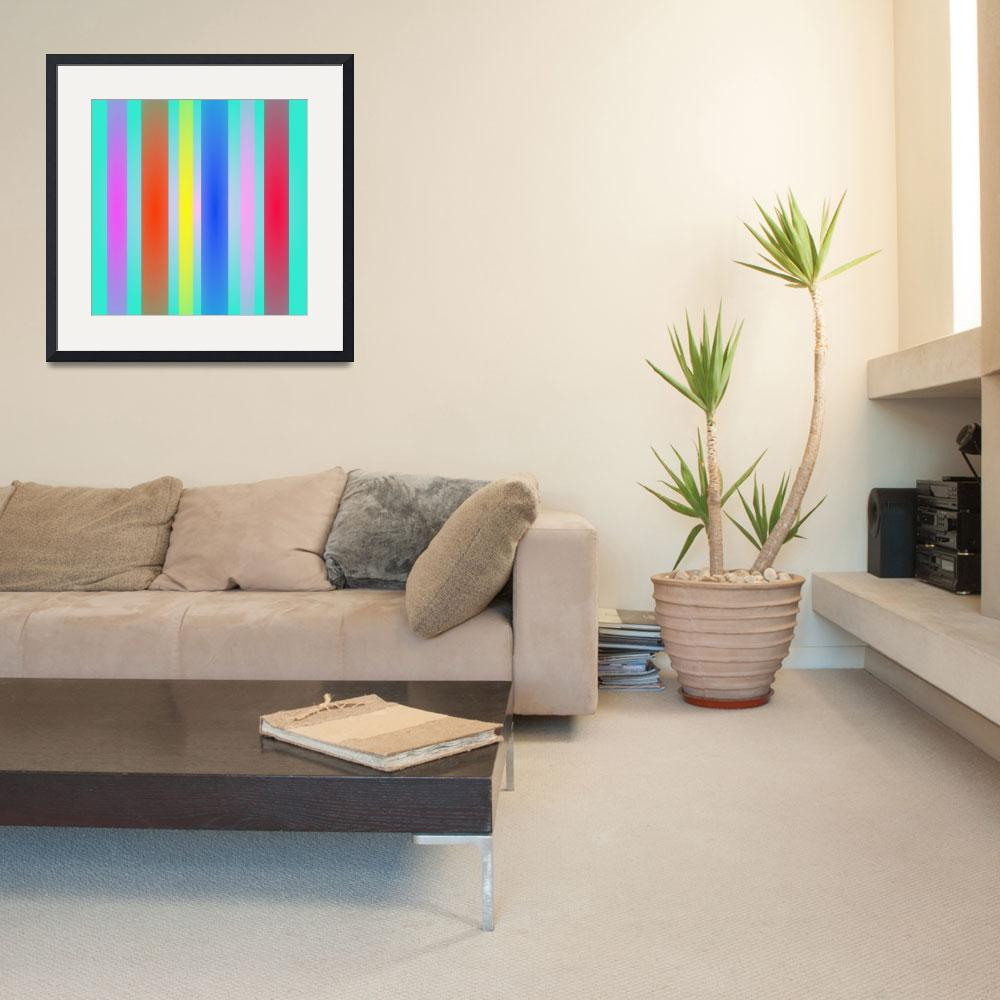 """""""Vertical Stripes Art Square&quot  by masabo"""