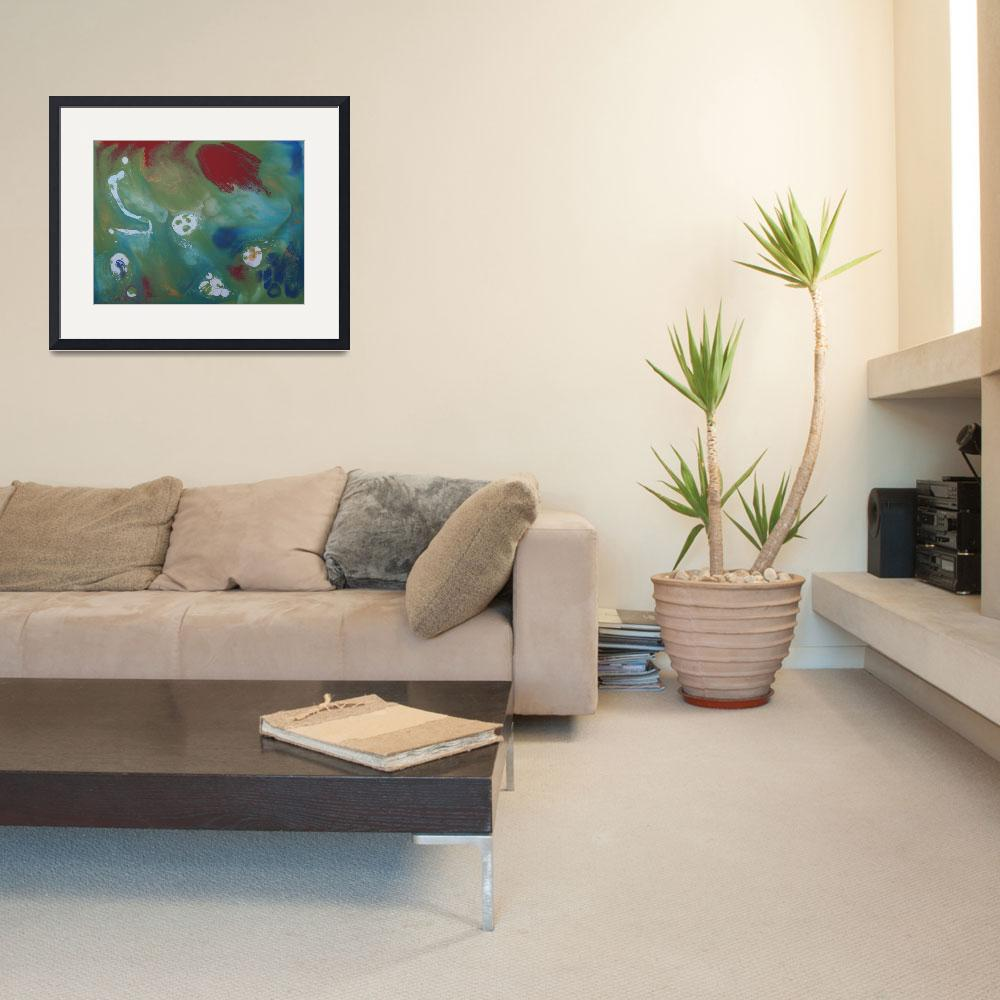 """""""Contemporary Abstract Painting -  Goldilocks Terra&quot  by motionage"""