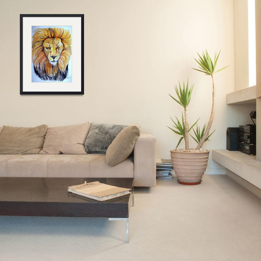 """Lion""  (2009) by ChrisCrowley"