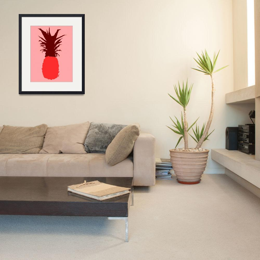 """""""Pineapple red pink (c)&quot  (2014) by edmarion"""