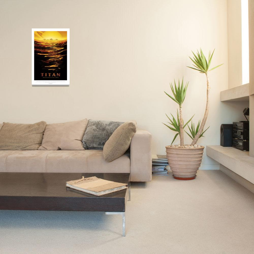 """Nasa Travel Poster Titan&quot  by FineArtClassics"