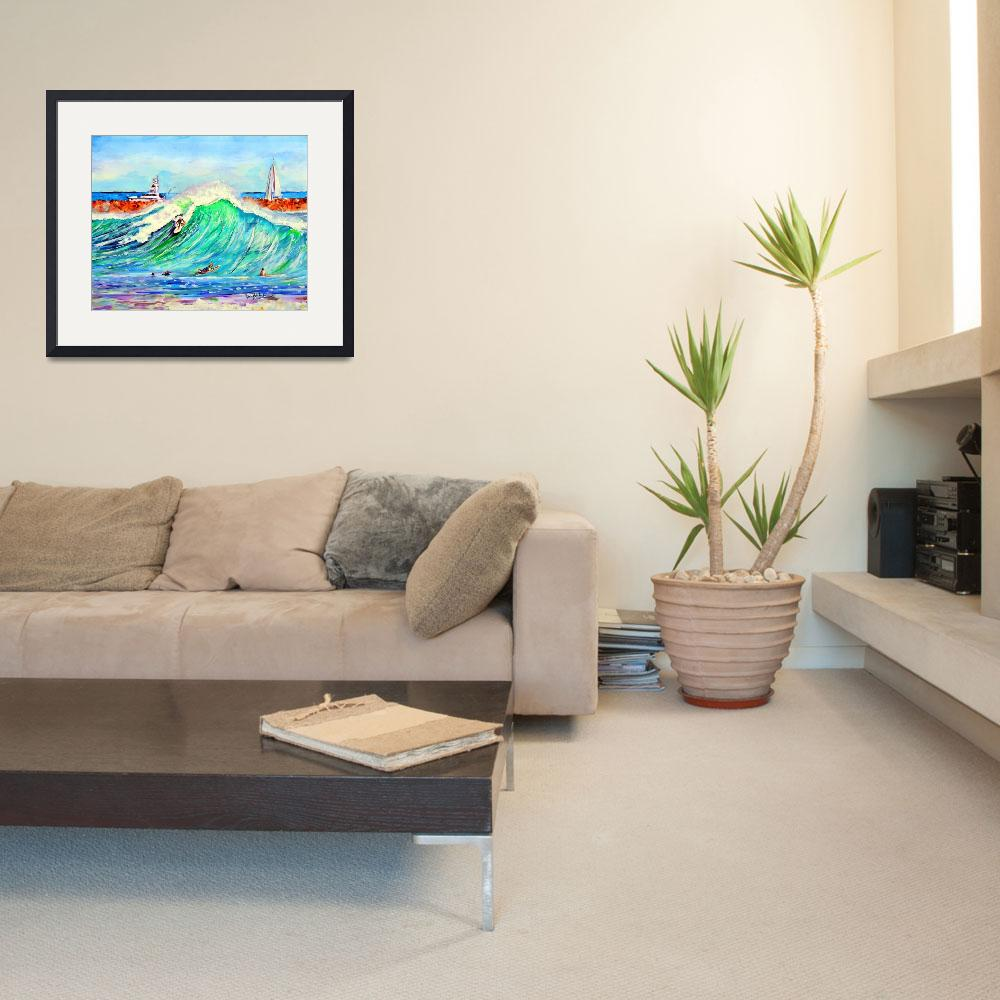 """""""The Wedge newport Beach CA&quot  (2014) by ArtbyLeclerc"""