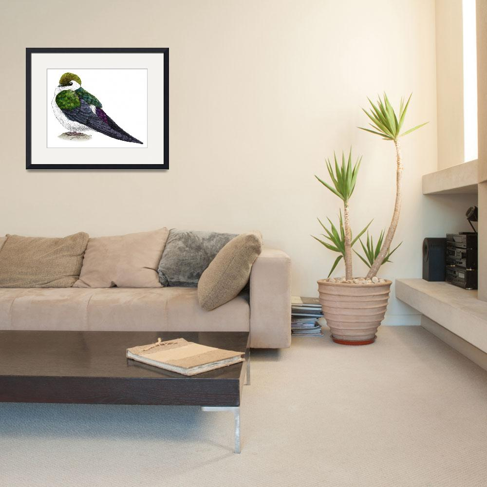 """""""Violet-Green Swallow&quot  by inkart"""
