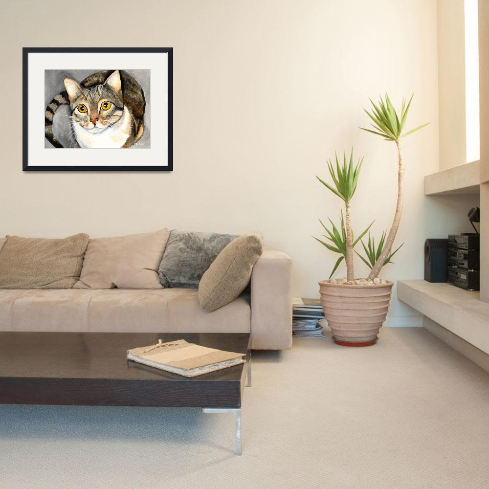 """""""Tabby Cat&quot  (2010) by creativemoods"""
