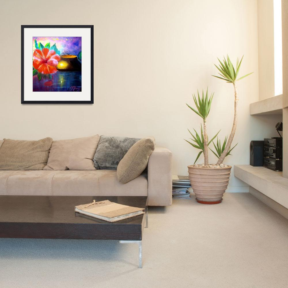 """""""Hibiscus Flower Painting&quot  (2009) by mazz"""